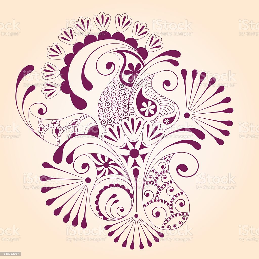 mendi design vector art illustration