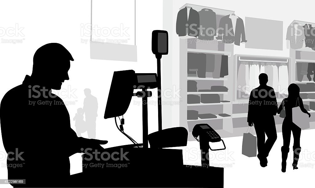 Men'n Clothes vector art illustration