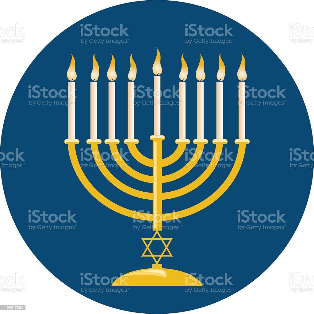 Menora For Hanukkah Celebration vector art illustration
