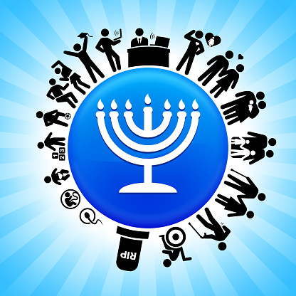 Menorah  Lifecycle Stages of Life Background