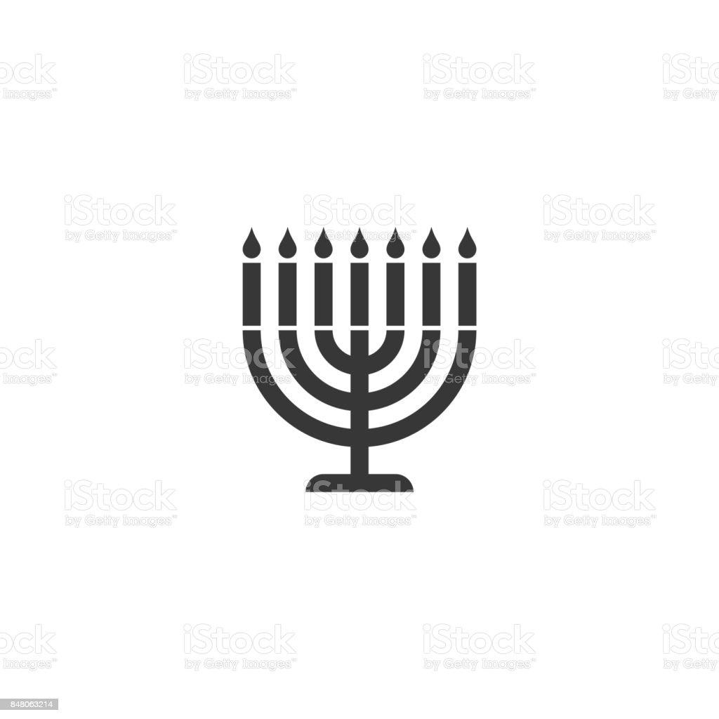 icône de silhouette de la menorah - Illustration vectorielle