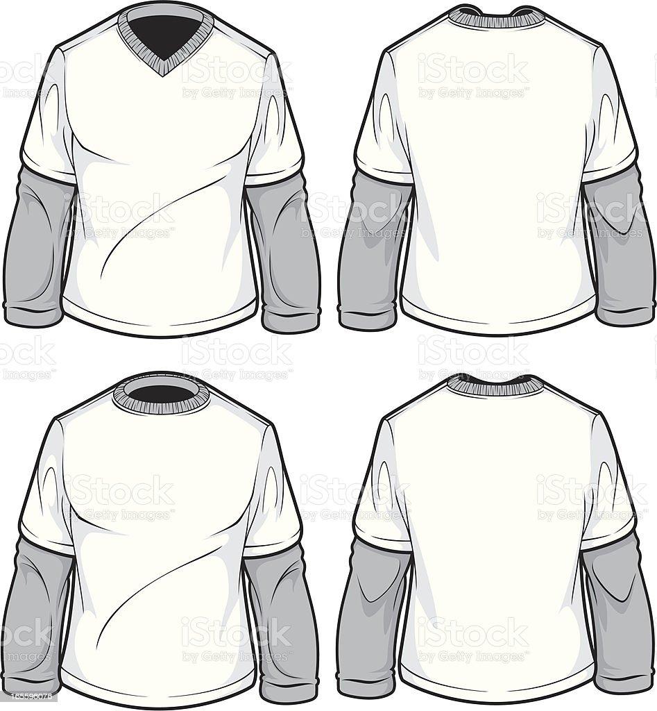 mens 2fer long sleeve royalty-free mens 2fer long sleeve stock vector art & more images of adult