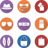 Men's accessories icons