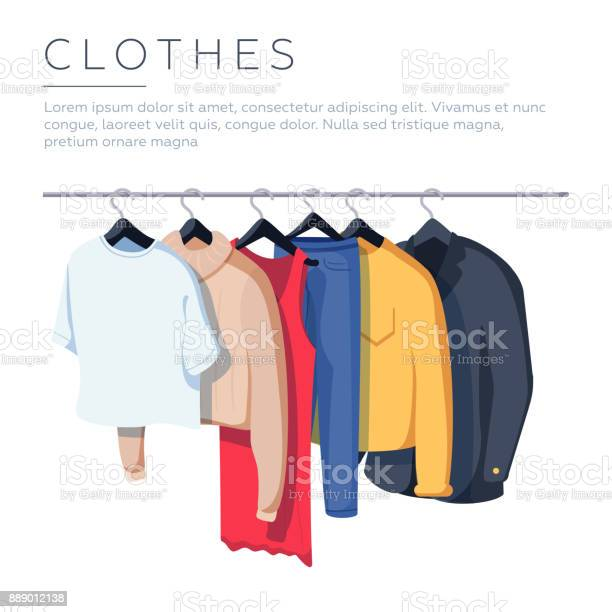Mens and womans clothes on hangers vector illustration isolated on vector id889012138?b=1&k=6&m=889012138&s=612x612&h=g q5zo583rhykemtshih8w9whq4omao1tinzai3tinm=