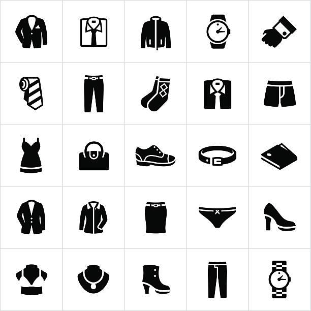 illustrations, cliparts, dessins animés et icônes de homme et femme élégante usure icônes - homme slip