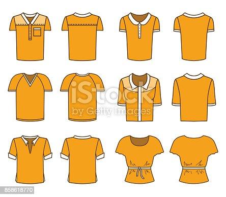 Men's and Women's Orange T-shirts