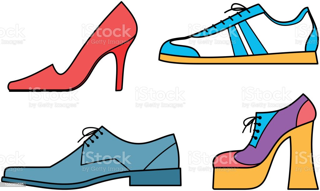 Men's  and women's shoes – Vector illustration royalty-free stock vector art