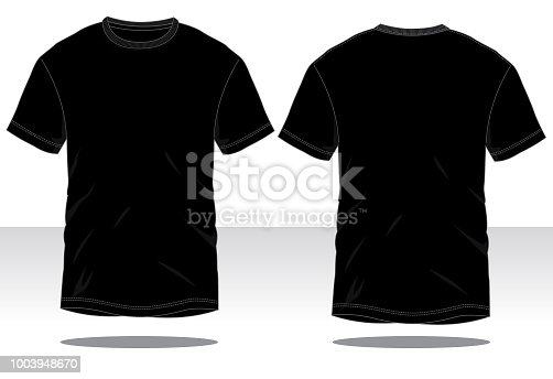 istock Men's BlackT-Shirt Vector 1003948670