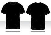 Men's BlackT-Shirt Vector