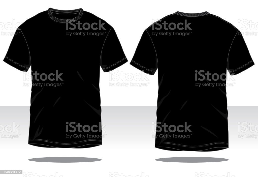 Men's BlackT-Shirt Vector vector art illustration