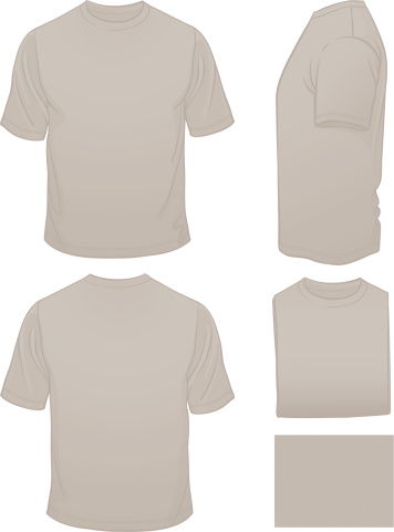 Men's Blank Grey T-shirt with Heather Pattern