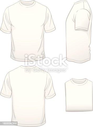 Hombres en blanco camiseta blanca en cuatro vista