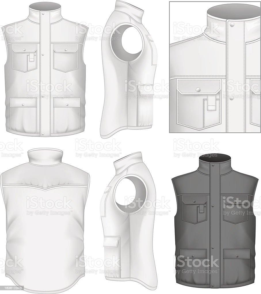Ilustración de Hombres Chaleco Acolchado Plantillas De Diseño De y ...