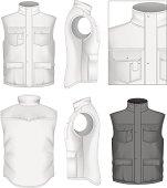 Men's bodywarmer design templates