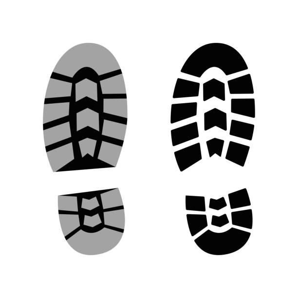 men's boot track - boot stock illustrations