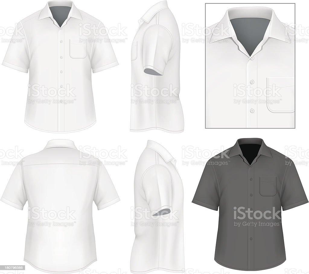 Men's button down shirt design template royalty-free mens button down shirt design template stock illustration - download image now