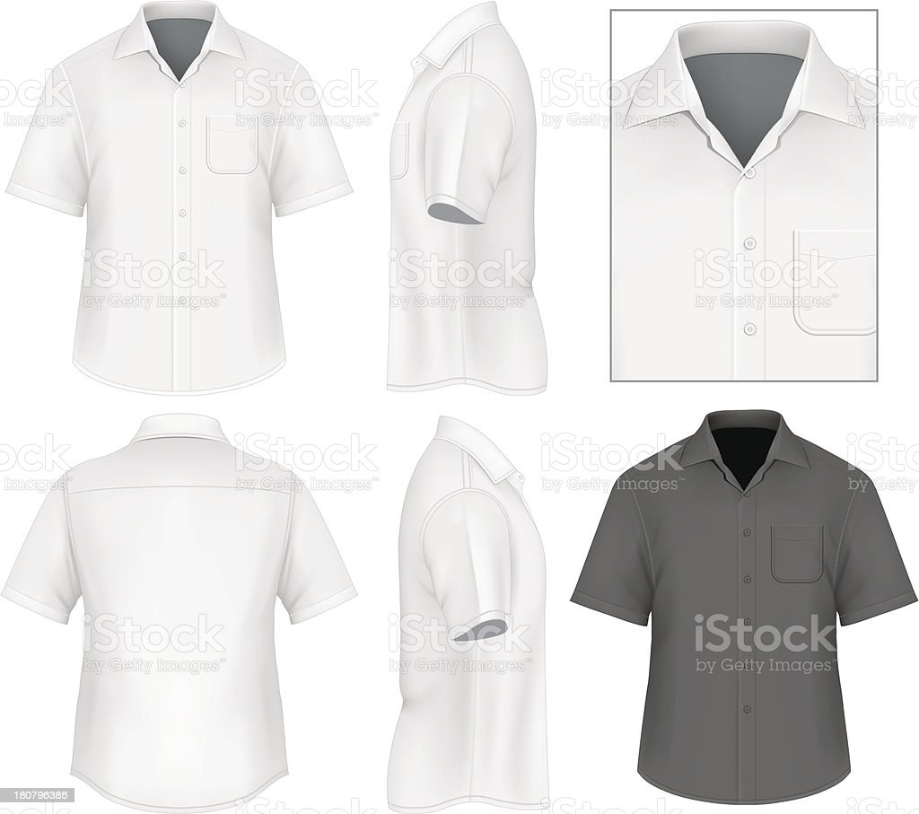 Men's button down shirt design template vector art illustration