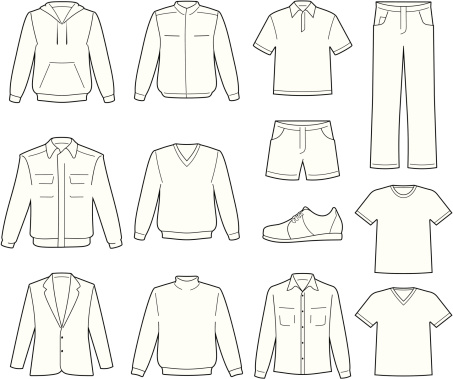 Men's casual clothes illustration