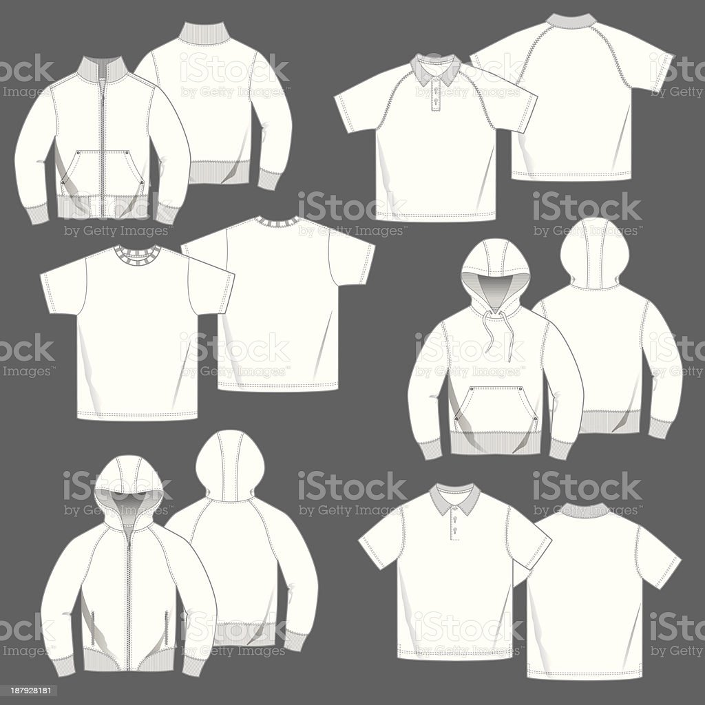 Mens Casual Top Fashion Templates royalty-free mens casual top fashion templates stock vector art & more images of casual clothing
