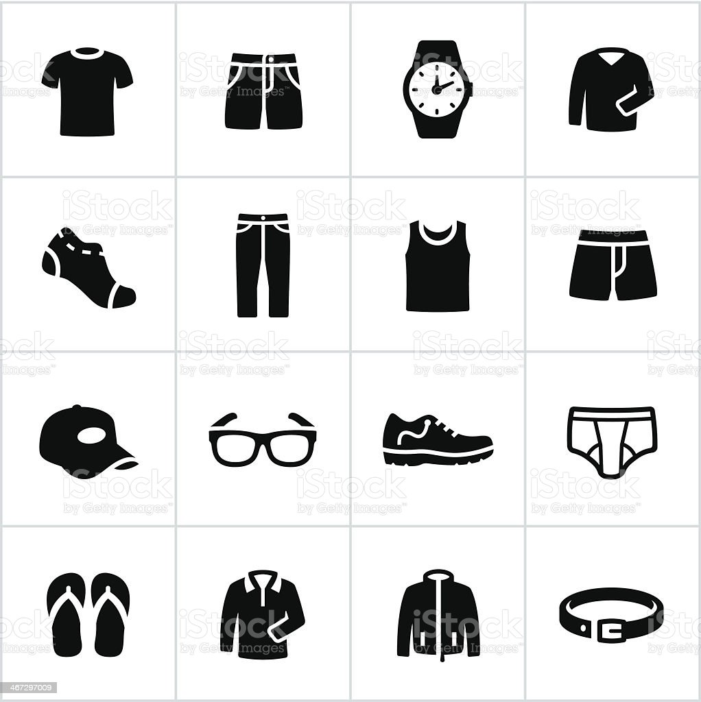 Mens Casual Wear Icons royalty-free mens casual wear icons stock vector art & more images of adult