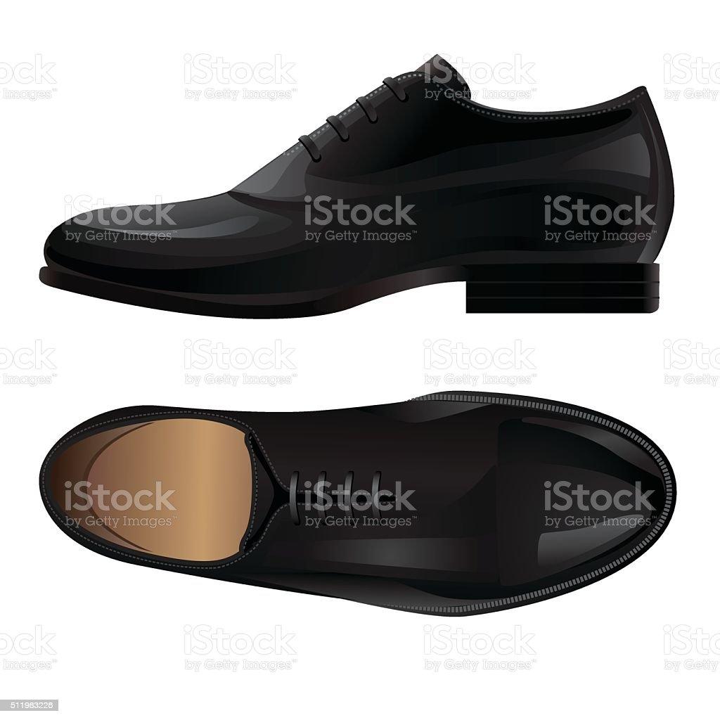 Klassische Schwarzen Stock Schuh Formelle Vektor Herren Art wvnOy80PmN