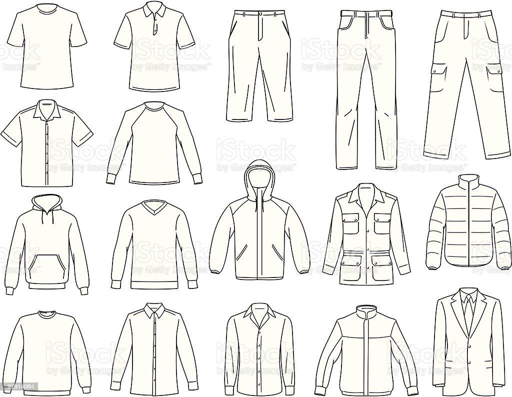 Men's clothes illustration vector art illustration