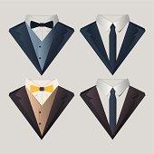 Vector illustration of men's clothes.