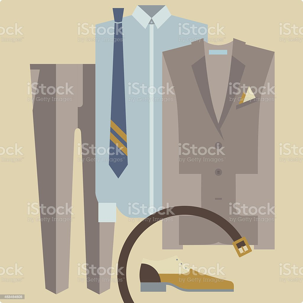 wholesale dealer 1eefd 4e7ba Herrenbekleidung Anzug Eleganter Stil Stock Vektor Art und ...
