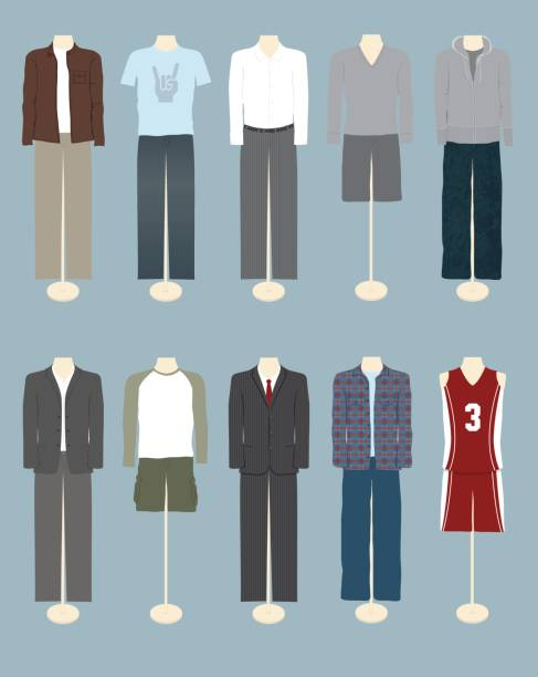 stockillustraties, clipart, cartoons en iconen met men's clothing - men blazer