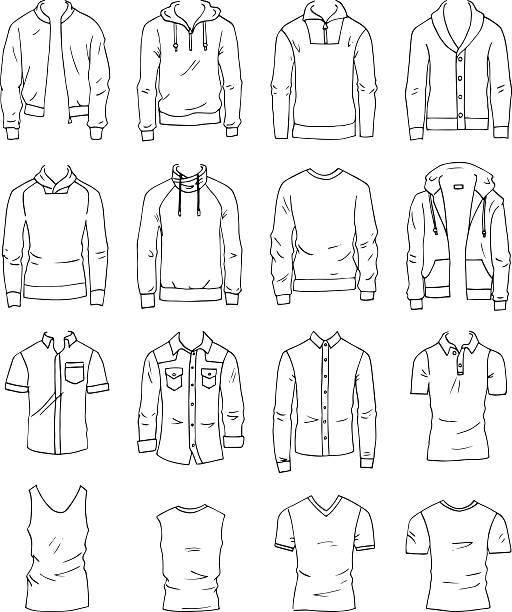 men's clothing - mens fashion stock illustrations, clip art, cartoons, & icons