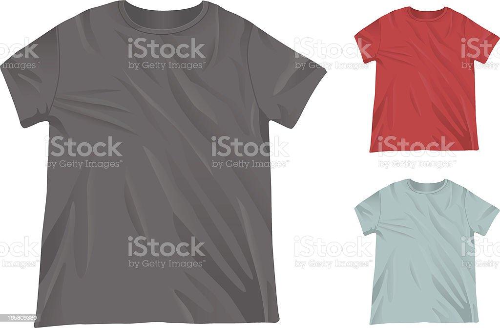 Men's Crewneck T-Shirt Mockup Template royalty-free stock vector art