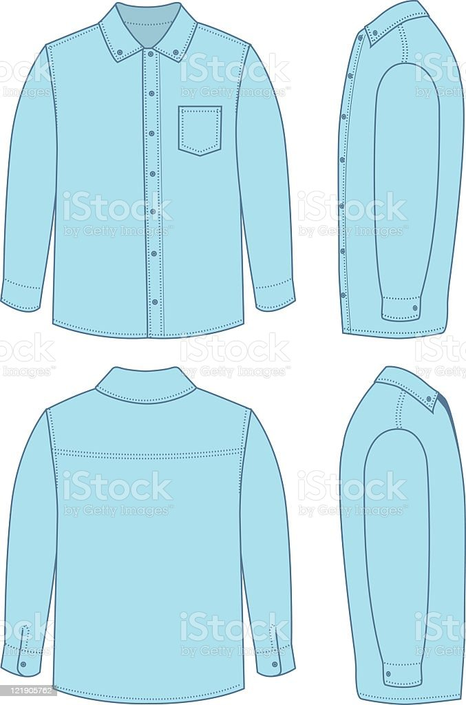 Men's Dress Shirt vector art illustration