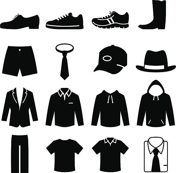 herren-mode-schwarz-serie - eleganter schuh stock-grafiken, -clipart, -cartoons und -symbole