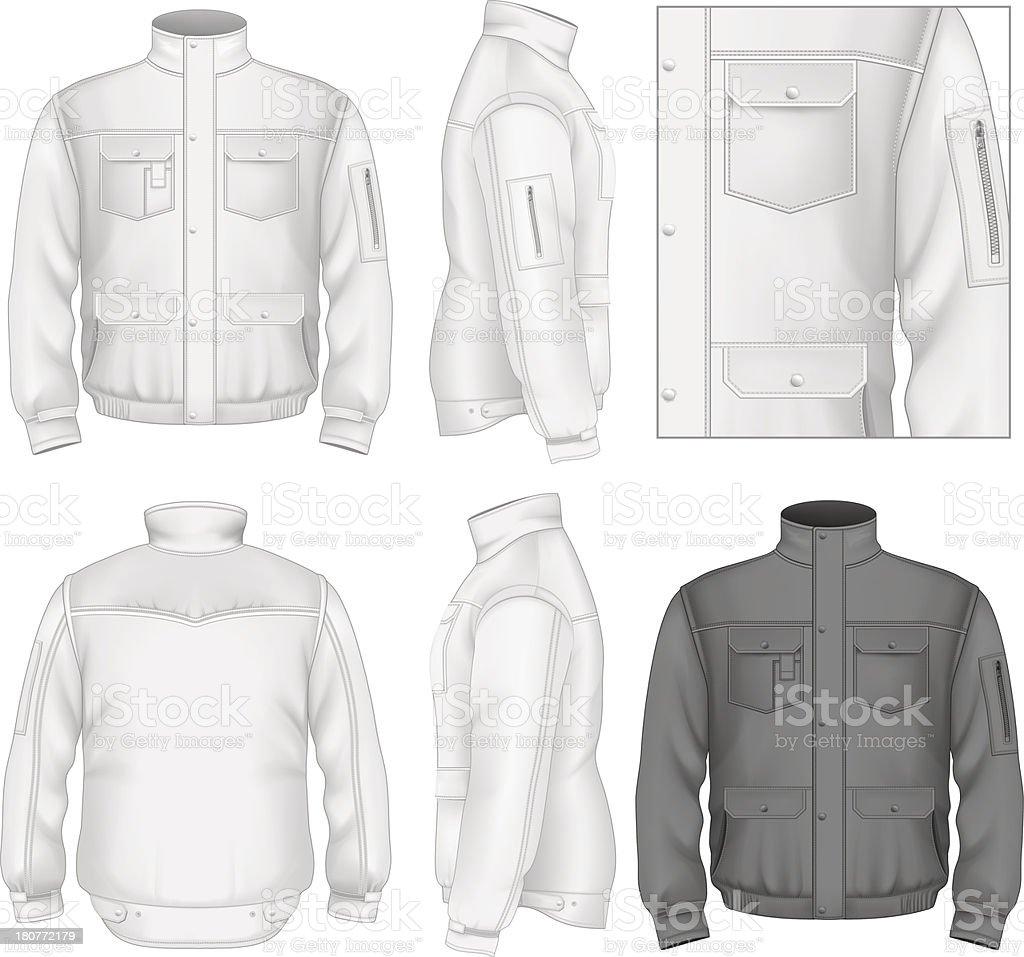 男性のフライトジャケットデザインテンプレート tシャツのベクター