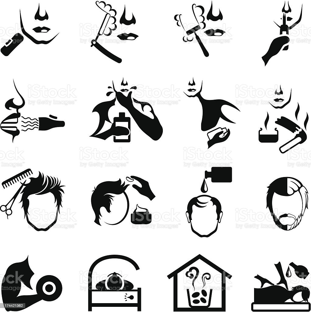 Men's Grooming Icons royalty-free mens grooming icons stock vector art & more images of adult