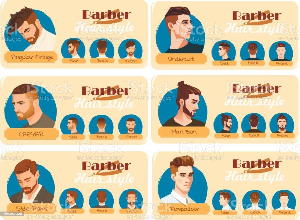 Herren Haarschnitt Und Frisur Seite Teil Haarschnitt Pompadour