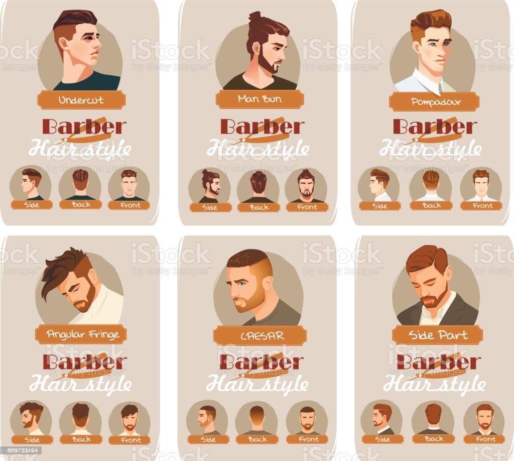 Mens Haircut And Hairstyle Side Part Haircut Pompadour Undercut Man