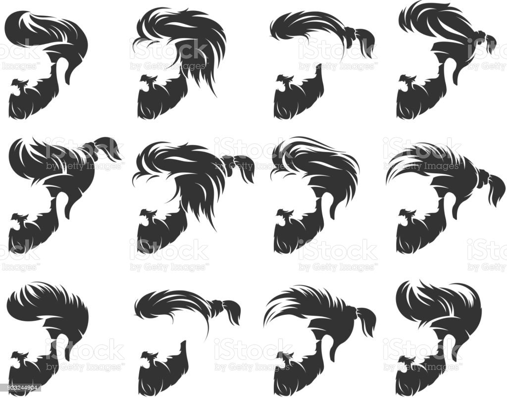 mens hairstyles and hirecut with beard mustache in face full face