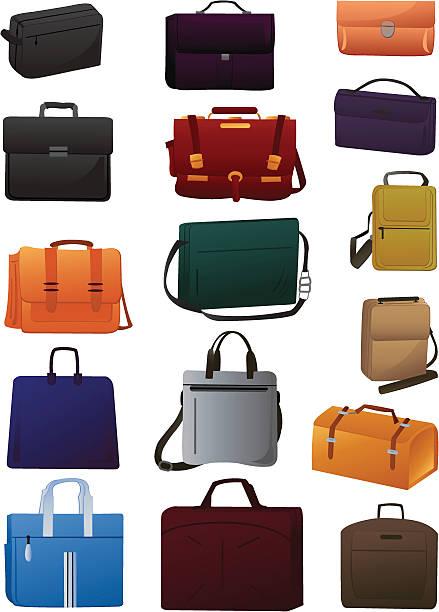 handtaschen für herren - laptoptaschen stock-grafiken, -clipart, -cartoons und -symbole