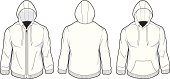 vector template set of blank hoody t-shirts. Download includes CS3 and EPS8 files.