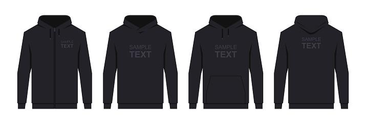 Men's hoodie Black