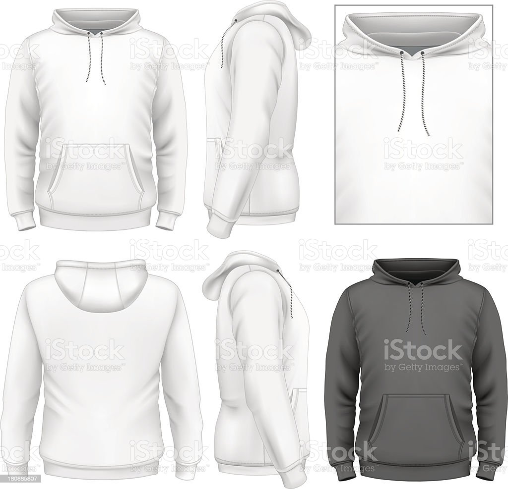 Men's hoodie design template vector art illustration