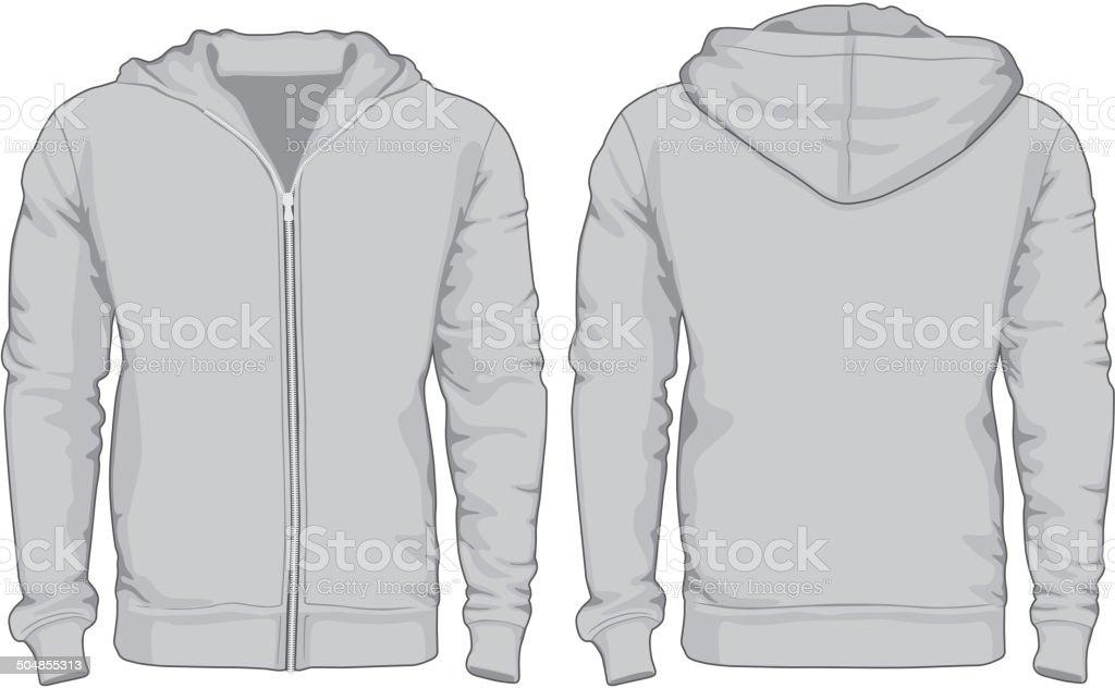 Men's hoodie shirts template vector art illustration