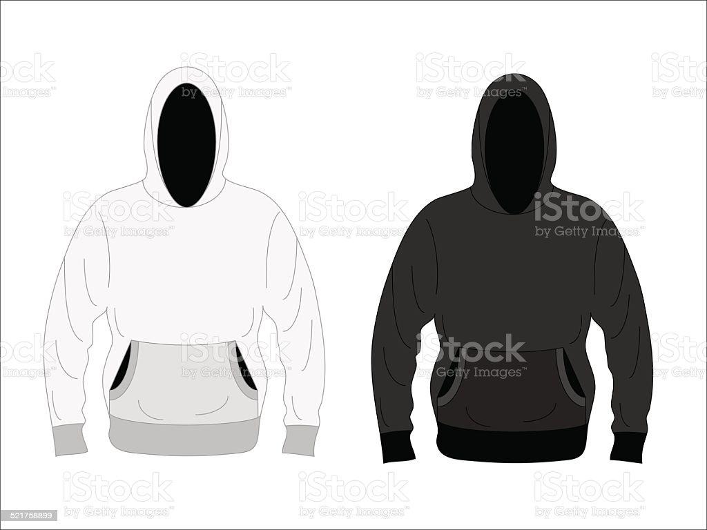 Men's hoodie vector art illustration
