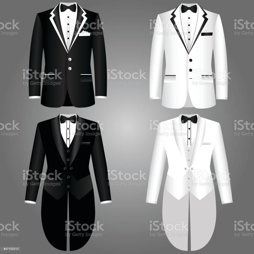 Men's jacket. Collection. vector art illustration