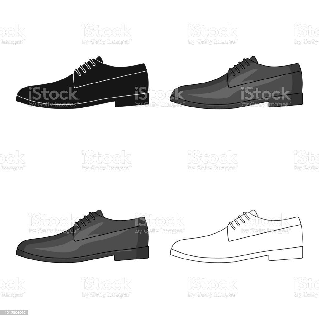 Ilustración de Brillantes Zapatos Con Cordones De Cuero Para