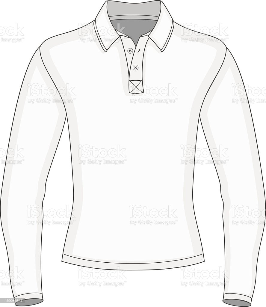 Mens Long Sleeve Polo Shirt Stock Vector Art More Images Of Adult Circuit Board Tshirt Royalty Free