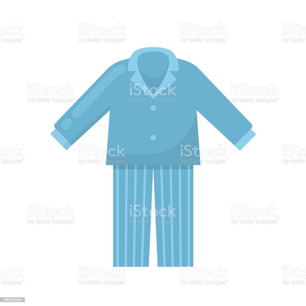 Men's pajamas, nightgown, sleeping shirt, home clothes, night suit vector art illustration
