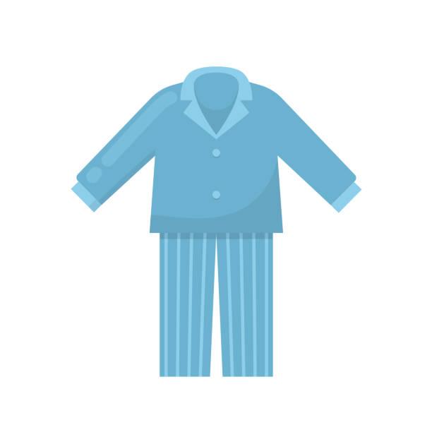 herren schlafanzug, nachthemd, schlafen nacht anzug, hemd, kleidung nach hause - pastellhosen stock-grafiken, -clipart, -cartoons und -symbole