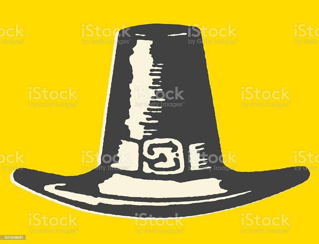 Men's Pilgrim Hat vector art illustration
